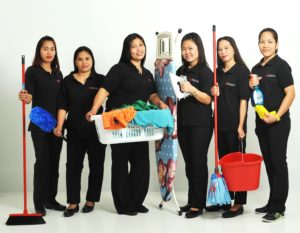 Maids in Dubai with Cleaning Equipment